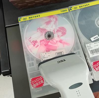 DVDのバーコードをスキャン