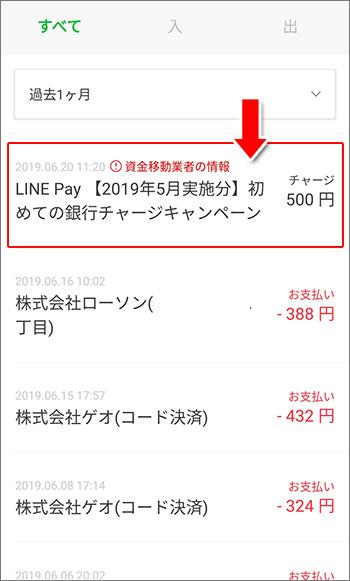 LINE Pay 初めての銀行チャージキャンペーン
