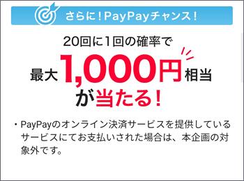 20回に1回の確率で最大1,000円相当が当たる!