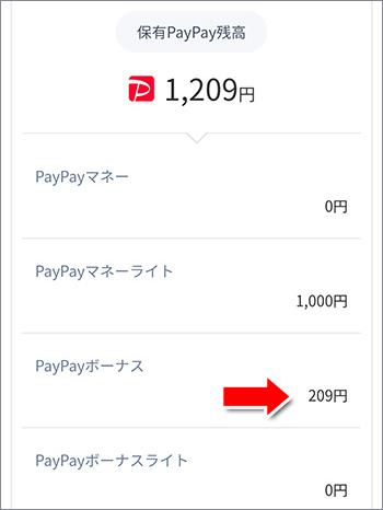 保有PayPay残高表示